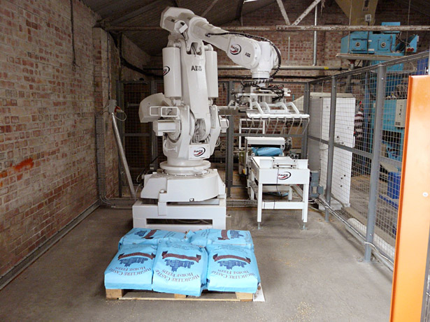 The new automated bagging line at Crux Easton, recently installed to double capacity.