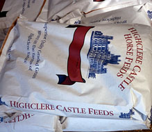 Highclere Castle Horse Feeds produces superior and standard grade grain product. Whole, or rolled, bagged or bulk.