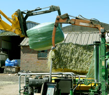 Haylage baling at Crux Easton